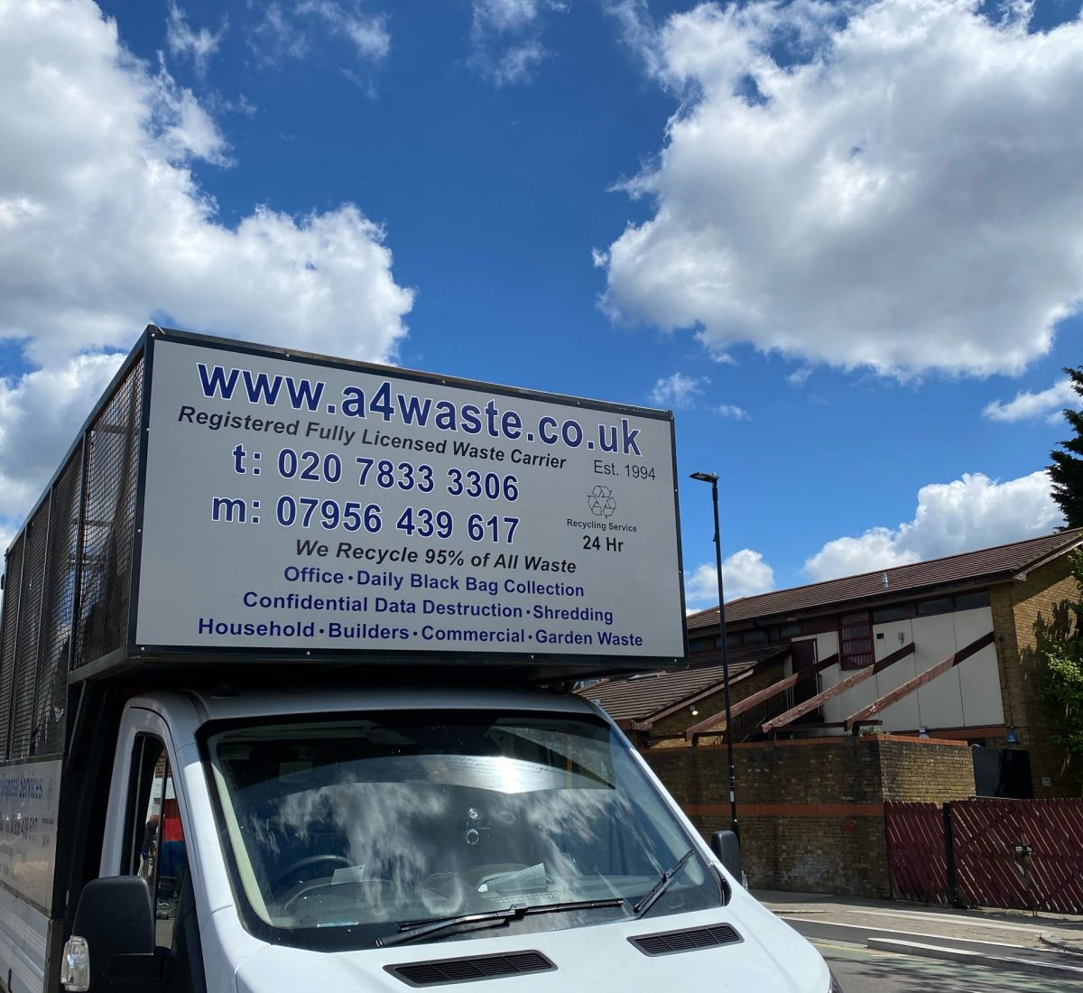 A4 waste disposal van